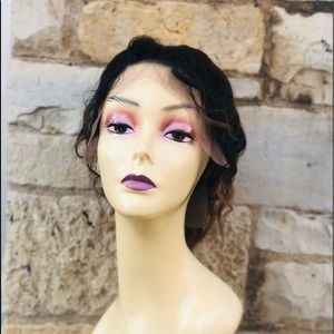 Ponytail wavy Lacefront wig ombré 2020
